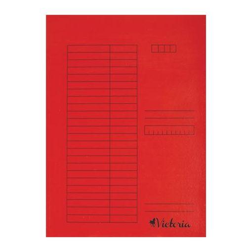 Papír pólyás dosszié A/4 5db piros