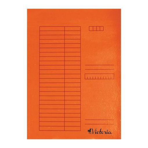 Papír pólyás dosszié A/4 5db narancs