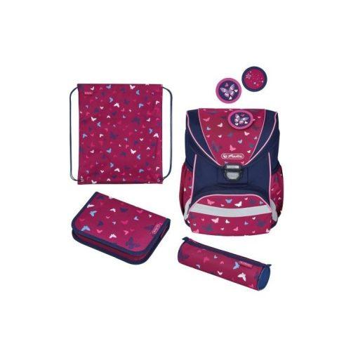 HERLITZ hátizsák, iskolatáska, UltraLight Plus szett, Butterfly