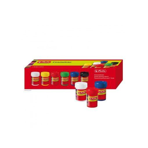 HERLITZ tempera színes, tégelyes, 25ml-es 6db készlet
