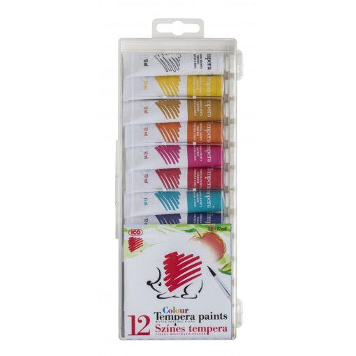 ICO Tempera színes, 12ml-es 12db-os készlet Süni