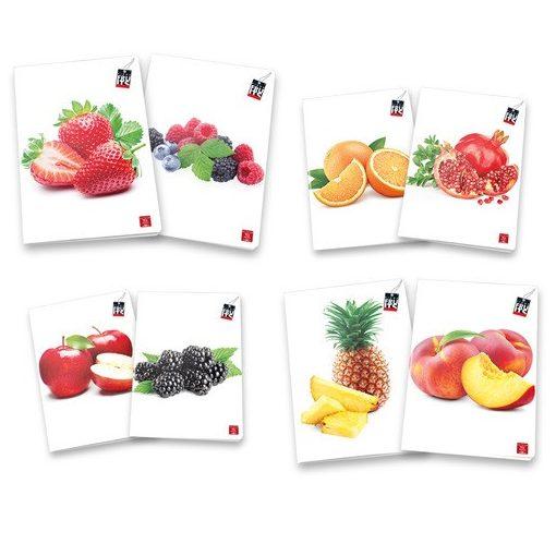 PIGNA Fruits füzet A/4 42 lapos vonalas
