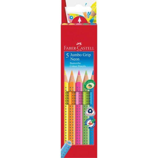 FABER-CASTELL Grip Jumbo színesceruza 5db neon