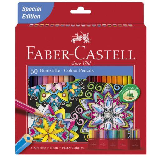 FABER-CASTELL hatszögletű színesceruza 60db