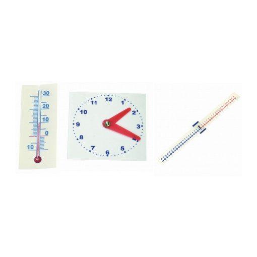 Műanyag óra / hőmérő / számegyenes