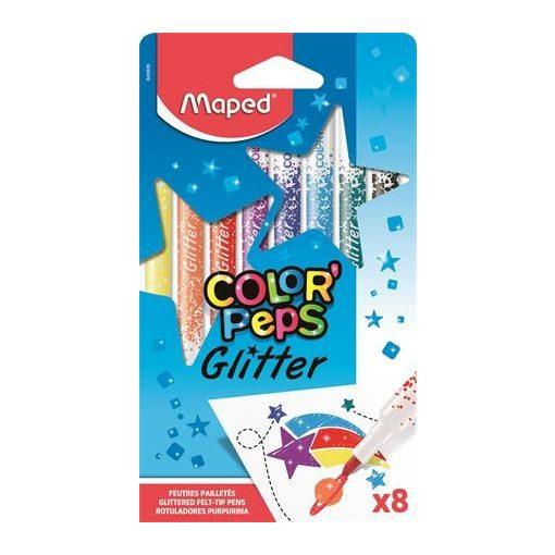 MAPED Color'Peps 2,8mm csiillámos filckészlet 8 szín