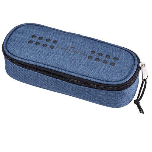 FABER-CASTELL tolltartó Ovalino, ovális, kék