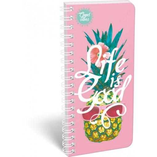 LIZZY CARD spirál szótárfüzet, Good Life