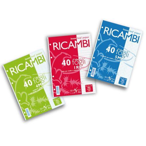 PIGNA Ricambi gyűrűskönyv betét A/5 40 lap