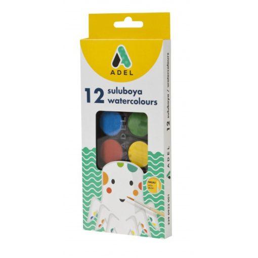 ADEL vízfesték 12 szín 30mm