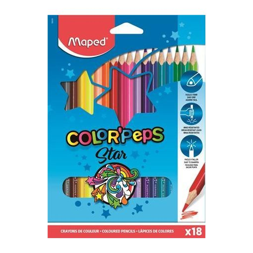 MAPED Color'Peps színesceruza 18db