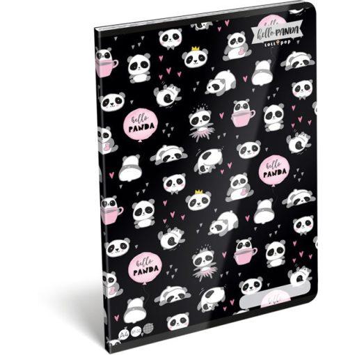 Lizzy Card füzet A/4-es kockás, négyzethálós 87-32, Panda