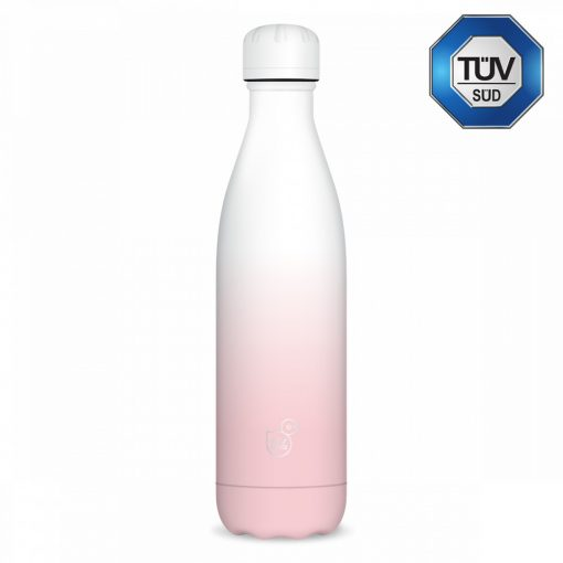 Ars Una duplafalú fémkulacs 500ml, fehér-rózsaszín