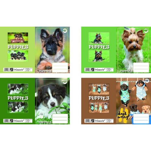 T-Creativ füzetborító A/5 Dogs 10db